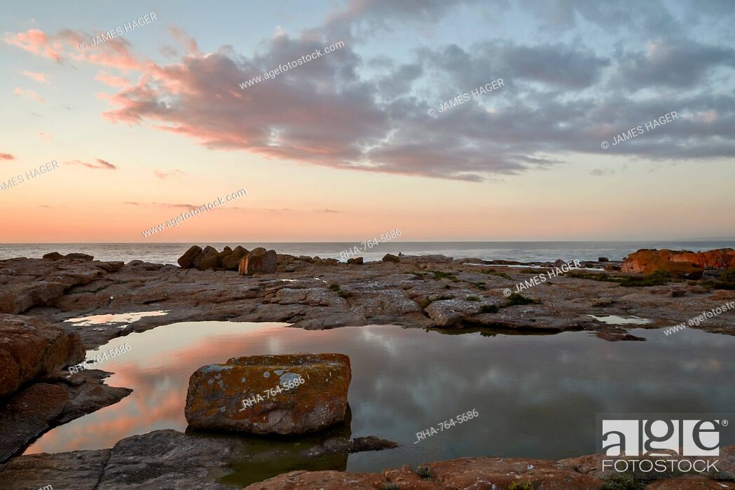 Stock Photo: Clouds at sunset along the coast, Elands Bay, South Africa, Africa.