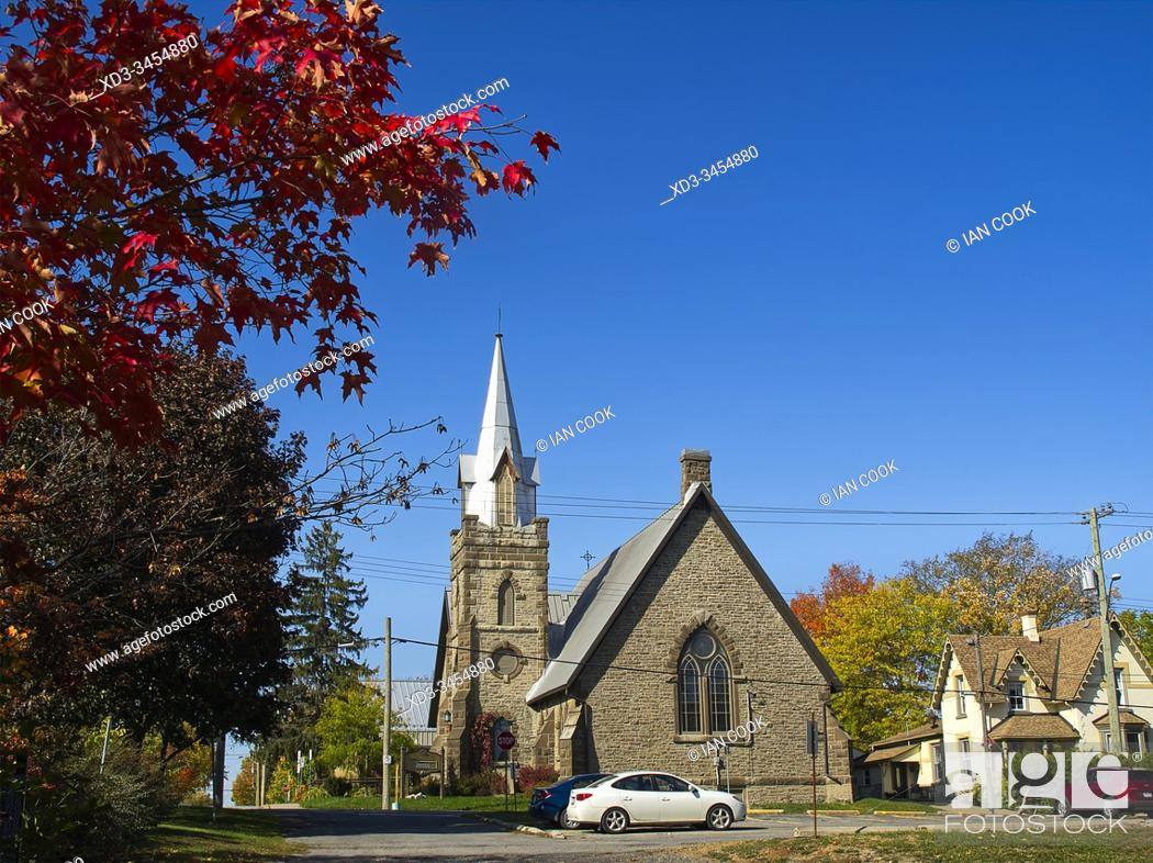 Stock Photo: Saint James Anglican Church, Carleton Place, Ontario, Canada.