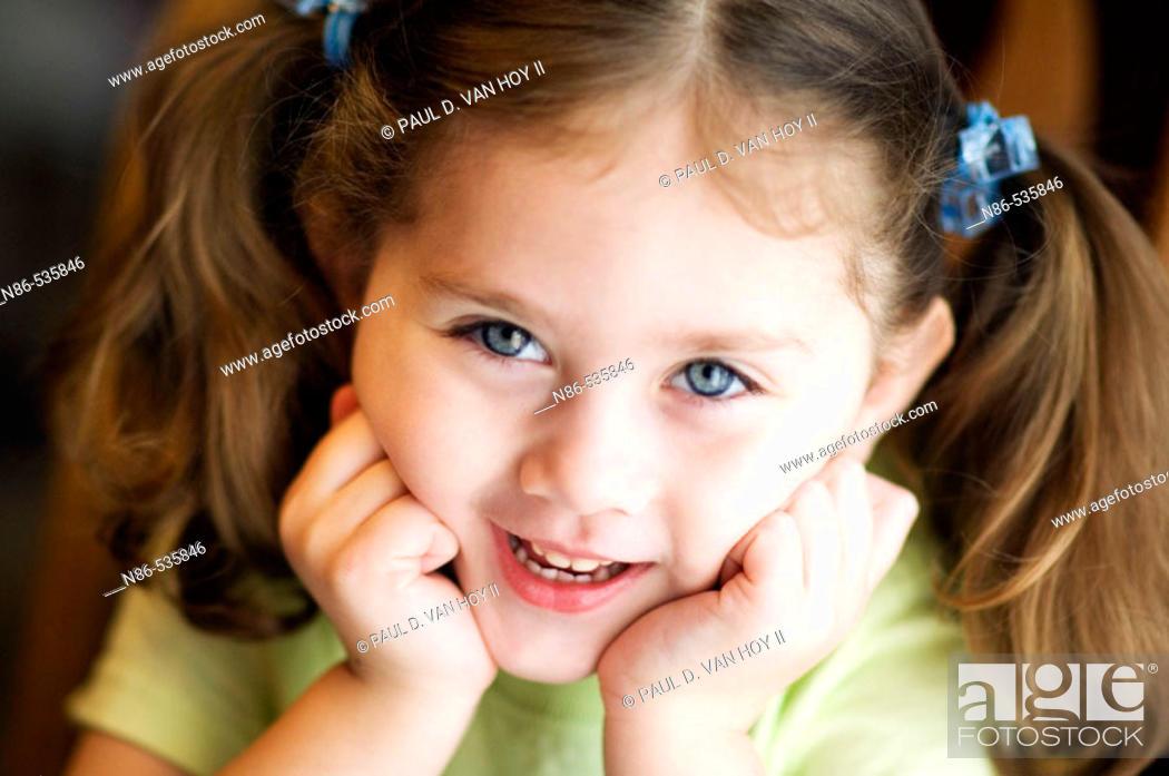 Stock Photo: Little girl smiling.