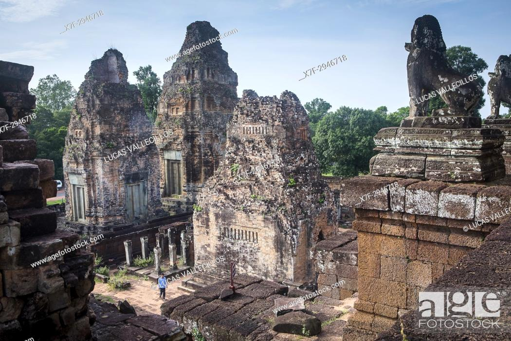 Stock Photo: Pre Rup temple, Angkor Archaeological Park, Siem Reap, Cambodia.