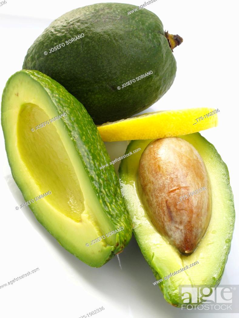 Stock Photo: Avocado with lemon.