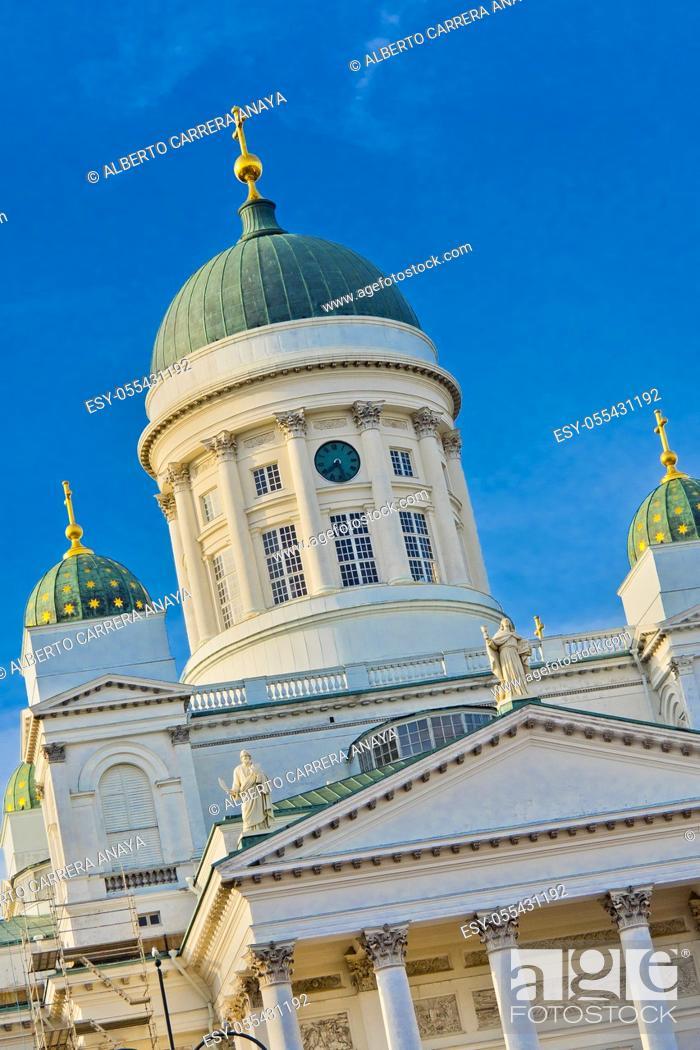 Imagen: Helsinki Lutheran Cathedral, Senate Square, Helnsinki, Finland, Europe.