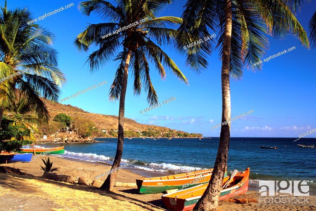 Stock Photo: Caribbean - Martinique - Anses d'Arlet - Grande Anse.