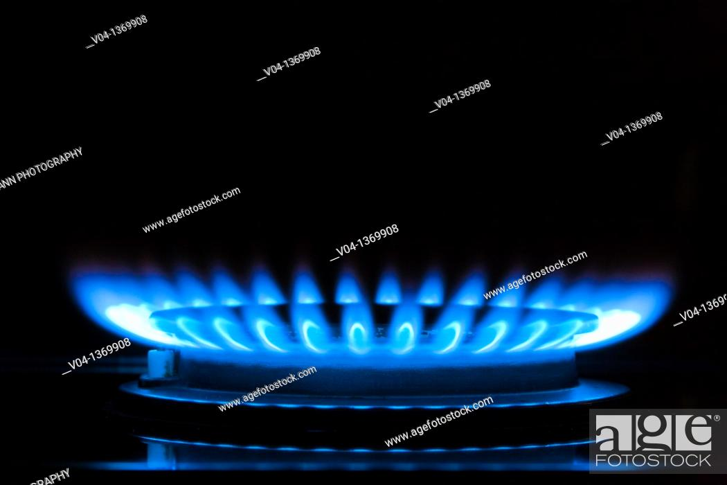 Stock Photo: Close up of a gas flame, Germany, Europe.