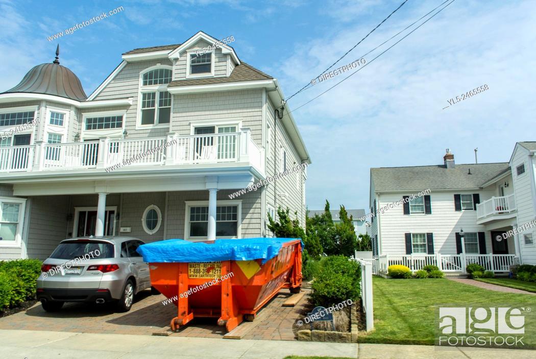 Imagen: Ocean City, New Jersey, USA, Street Scenes, view of Wooden houses, Ressort Town.