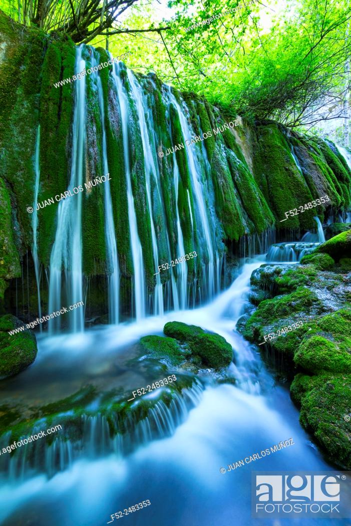 Stock Photo: Tobería falls, Andoin, Sierra Entzia Natural Park, Alava, Basque Country, Spain, Europe.