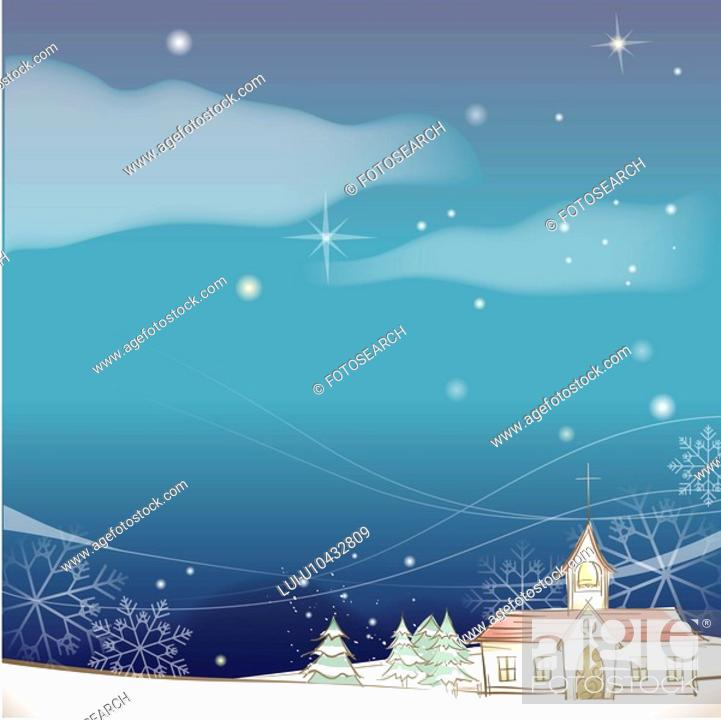 Stock Photo: snowflake, season, snowing, snow, winter, hill, background.