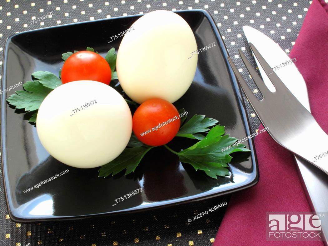 Stock Photo: Boiled eggs.