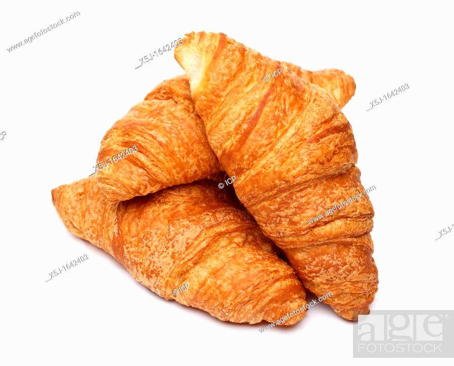 Stock Photo: Croissants on white background.
