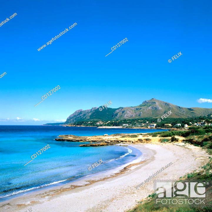 Stock Photo: Bay of Pollensa. Majorca. Balearic Islands. Spain.