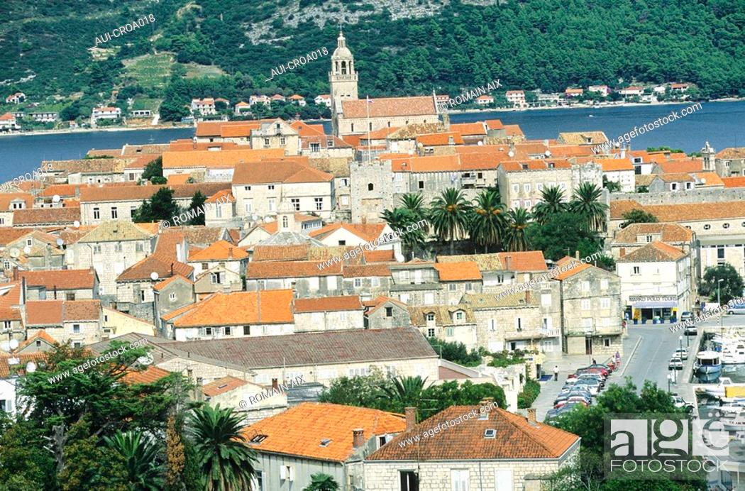 Stock Photo: Croatia - Ile de Korcula - Korcula.