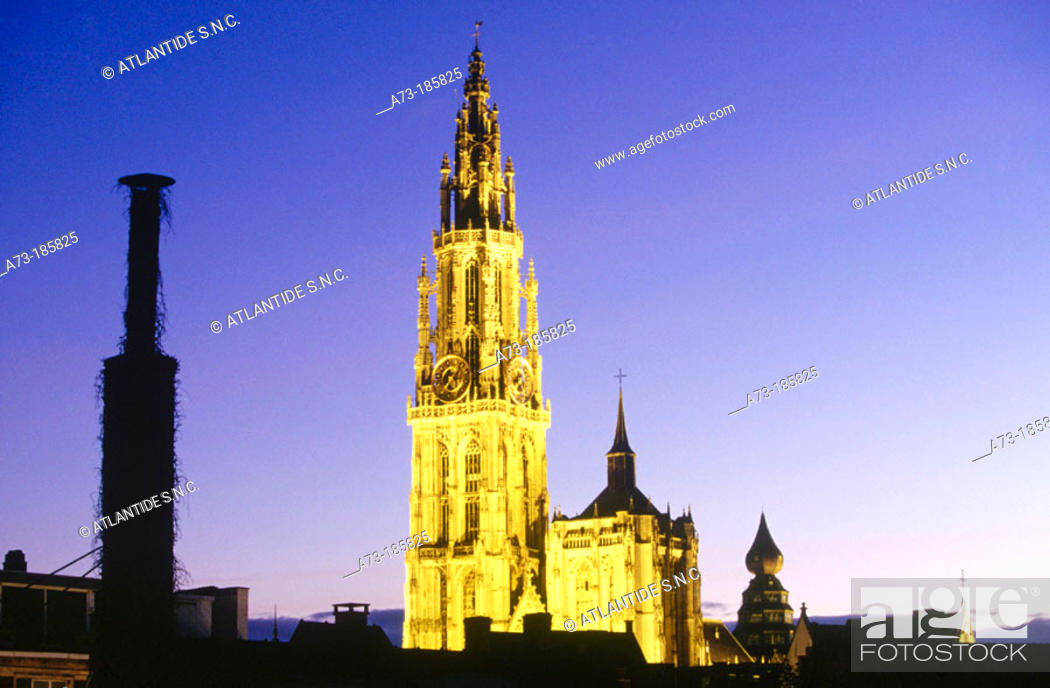 Stock Photo: Cathedral of Our Lady. Antwerp. Belgium.