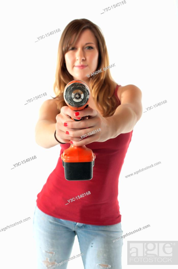 Stock Photo: Do It Yourself Woman.