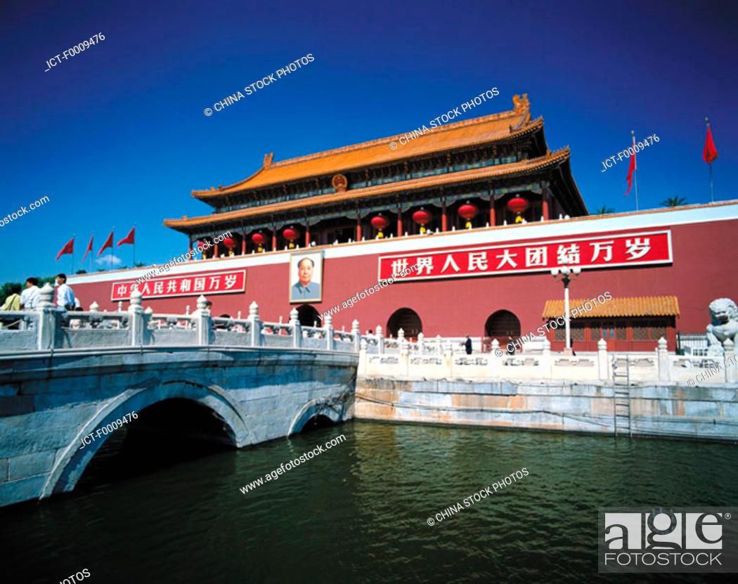 Stock Photo: China, Beijing, Tian An Men.