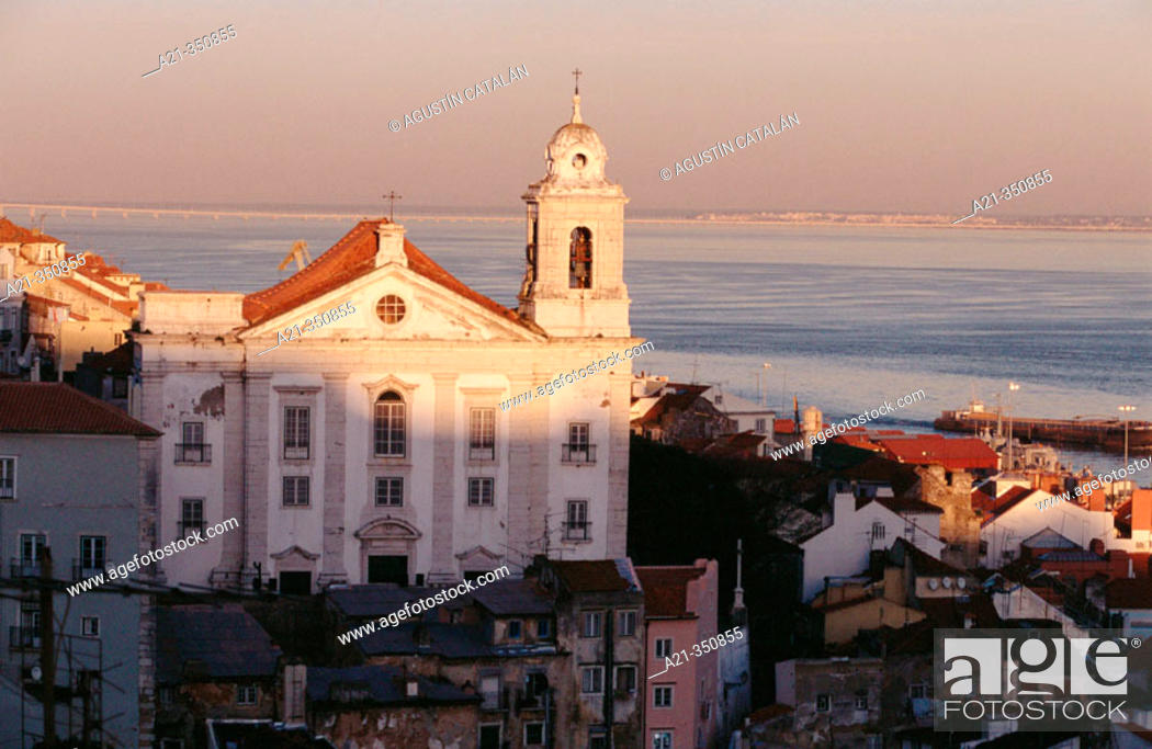 Stock Photo: Church of Santo Estêvão, Alfama. Lisbon, Portugal.