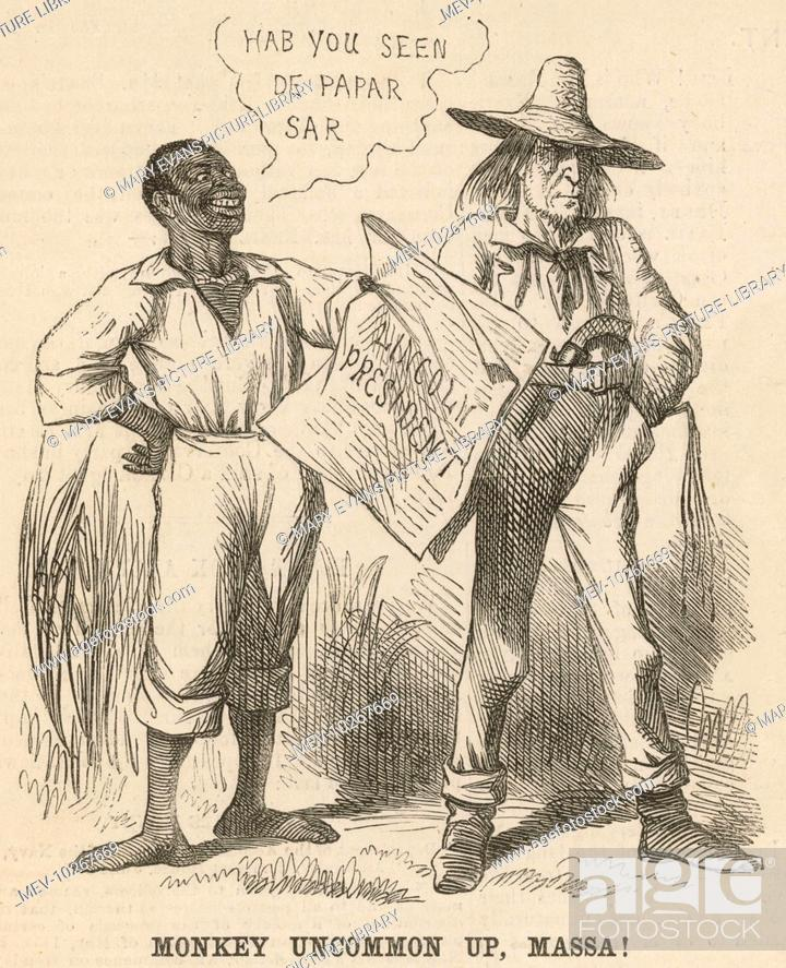 Cartoon On The Election Of Abraham Lincoln As President Of The