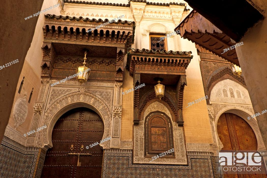 Stock Photo: Mosque Sidi Ahmed Tijani, The Medina, Fez or Fes, Morocco, North Africa.