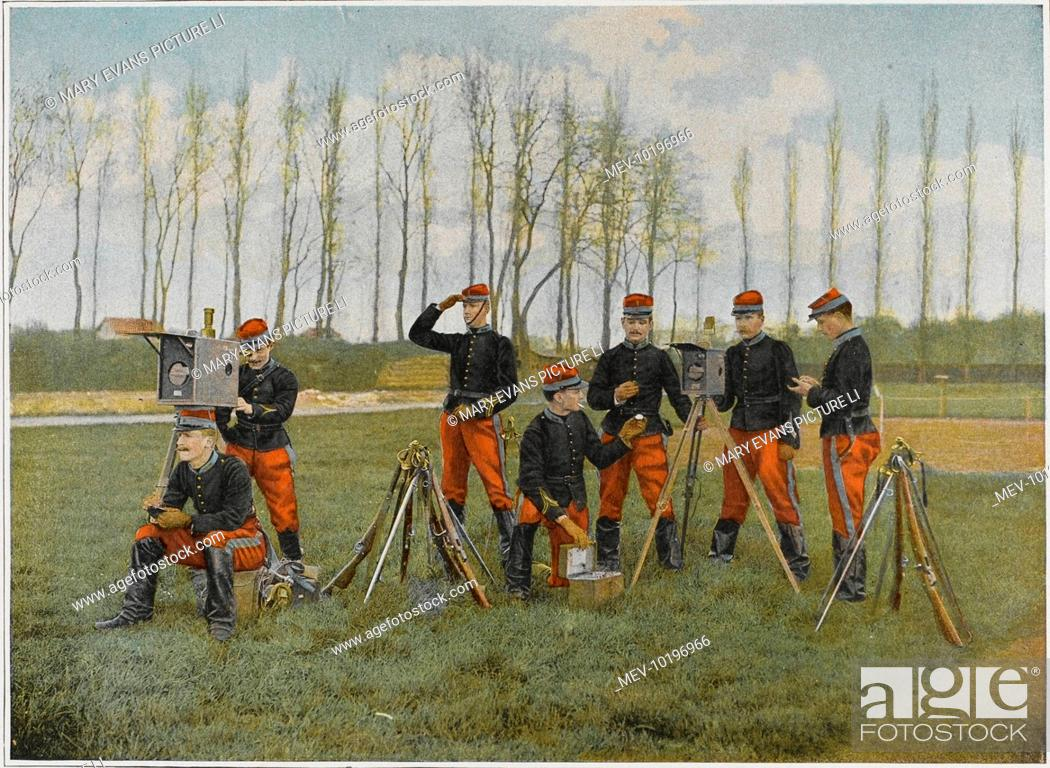 Stock Photo: Optical telegraph used by cadets at the French military academy of Saint-Cyr.