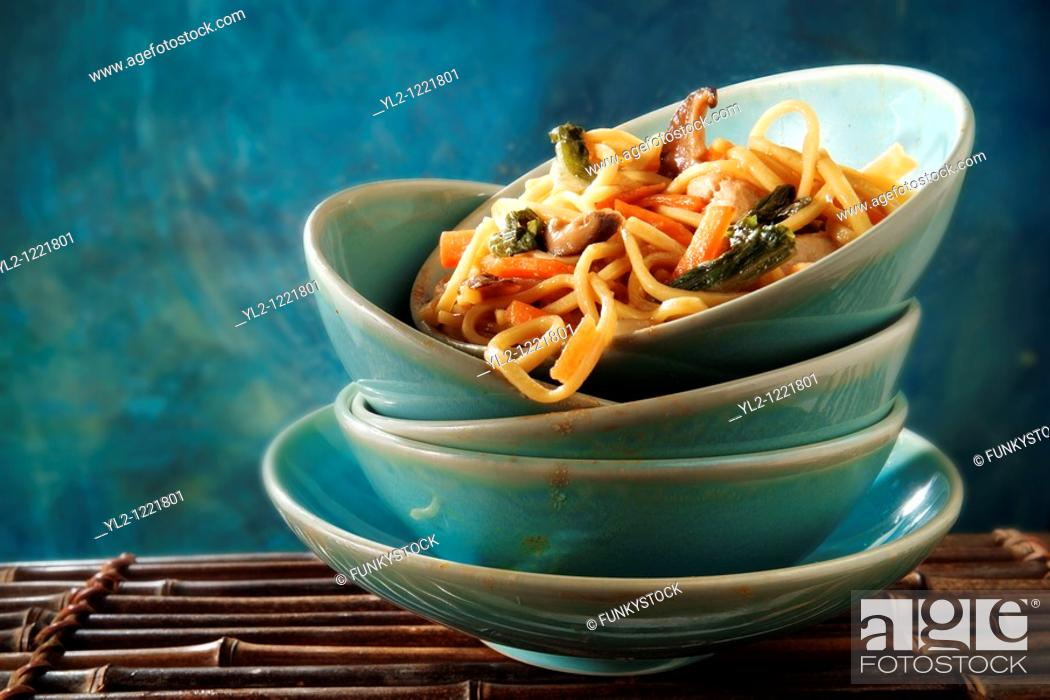 Stock Photo: Chinese vegetable noodles.