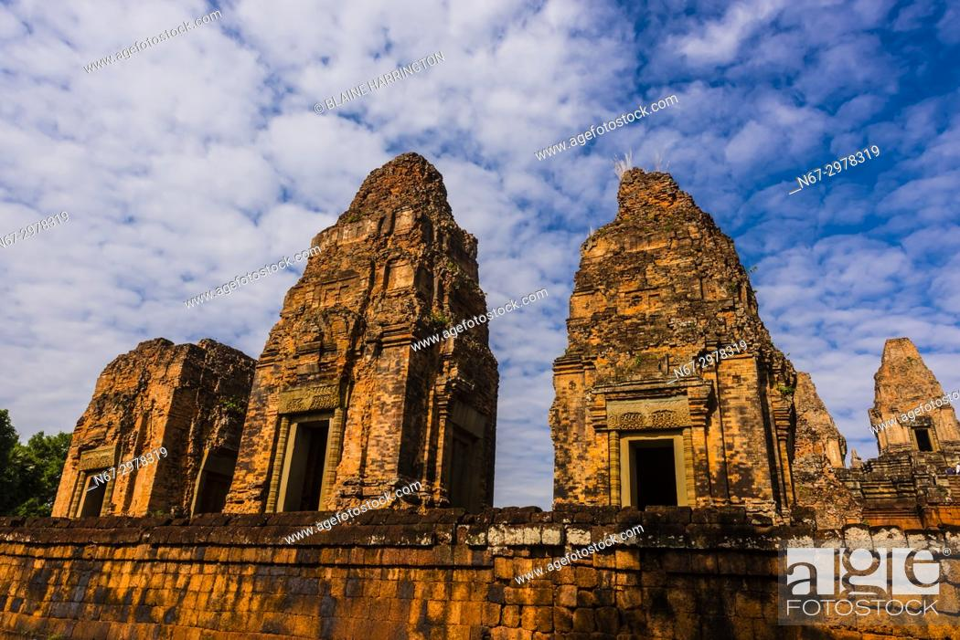 Stock Photo: Pre Rup is a Hindu temple at Angkor, Cambodia, built as the state temple of Khmer king Rajendravarman and dedicated in 961 or early 962.