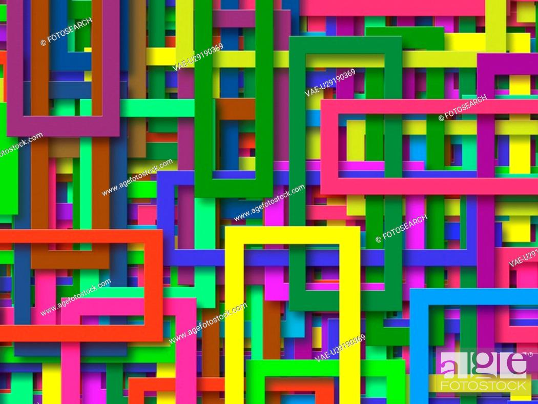 Stock Photo: Multi-Colored Rectangles.