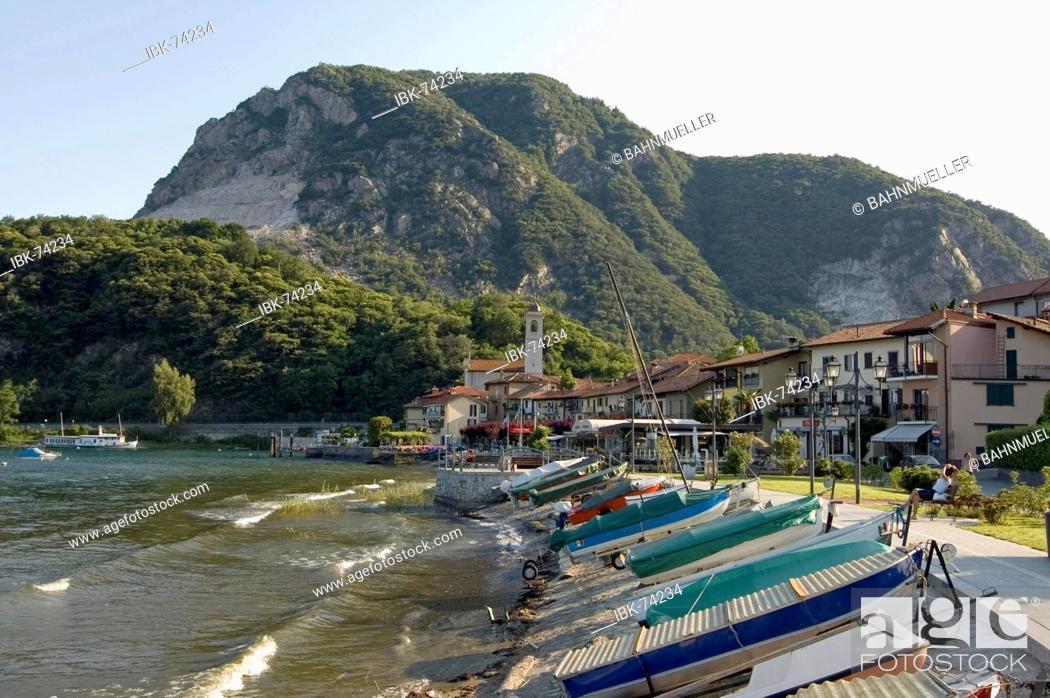 Stock Photo: Feriolo at the Lake Lago Maggiore Piedmont Piemonte Italy.