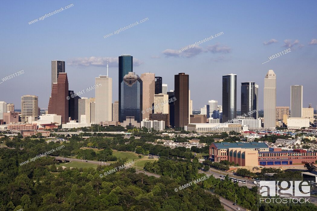 Stock Photo: Downtown Houston Office Buildings.