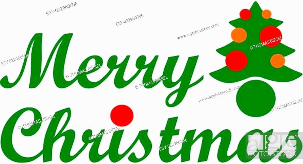 Stock Vector: Merry Christmas.