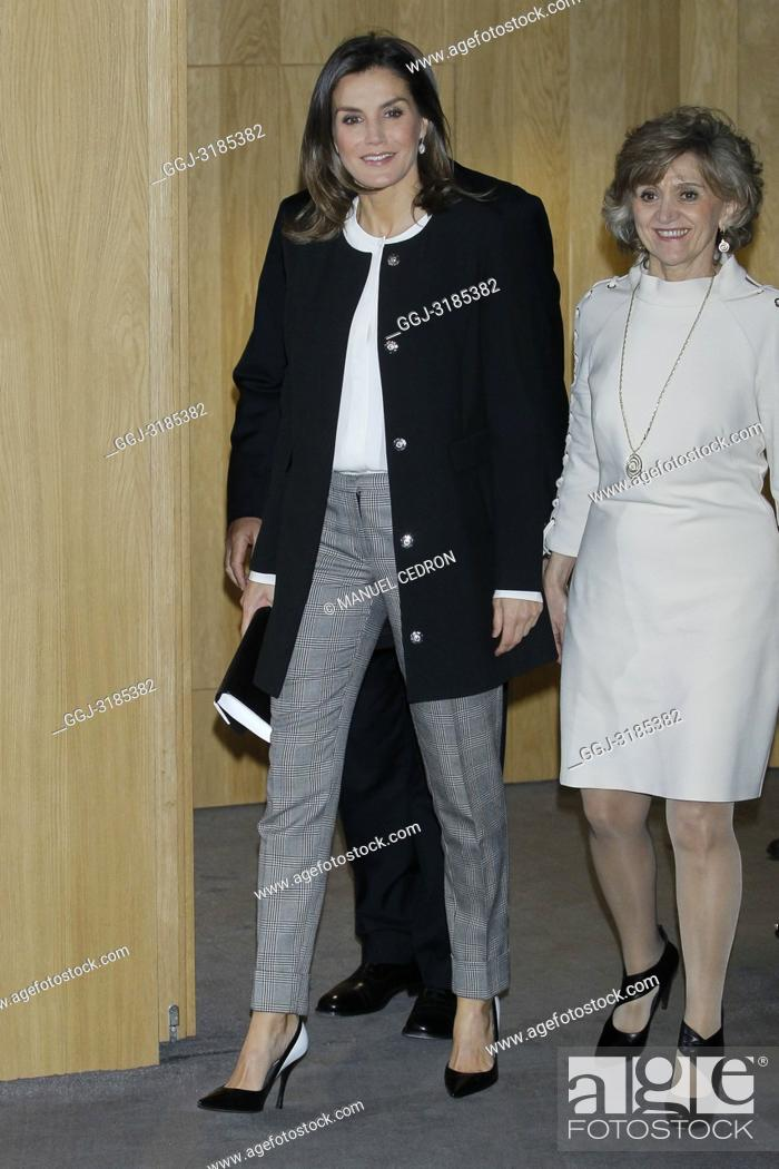 Stock Photo: Queen Letizia of Spain attends 10th anniversary of 'Integra BBVA Awards' at BBVA city on November 22, 2018 in Madrid, Spain.22/11/2018.