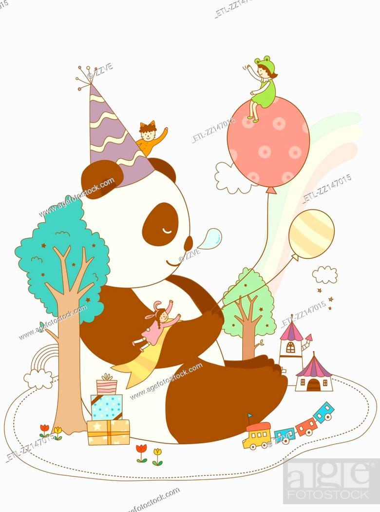 Stock Photo: Close-up of panda.