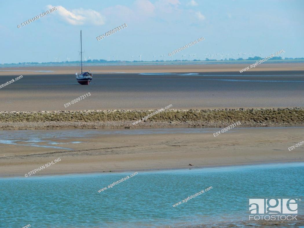 Stock Photo: The small island of baltrum in the north sea.