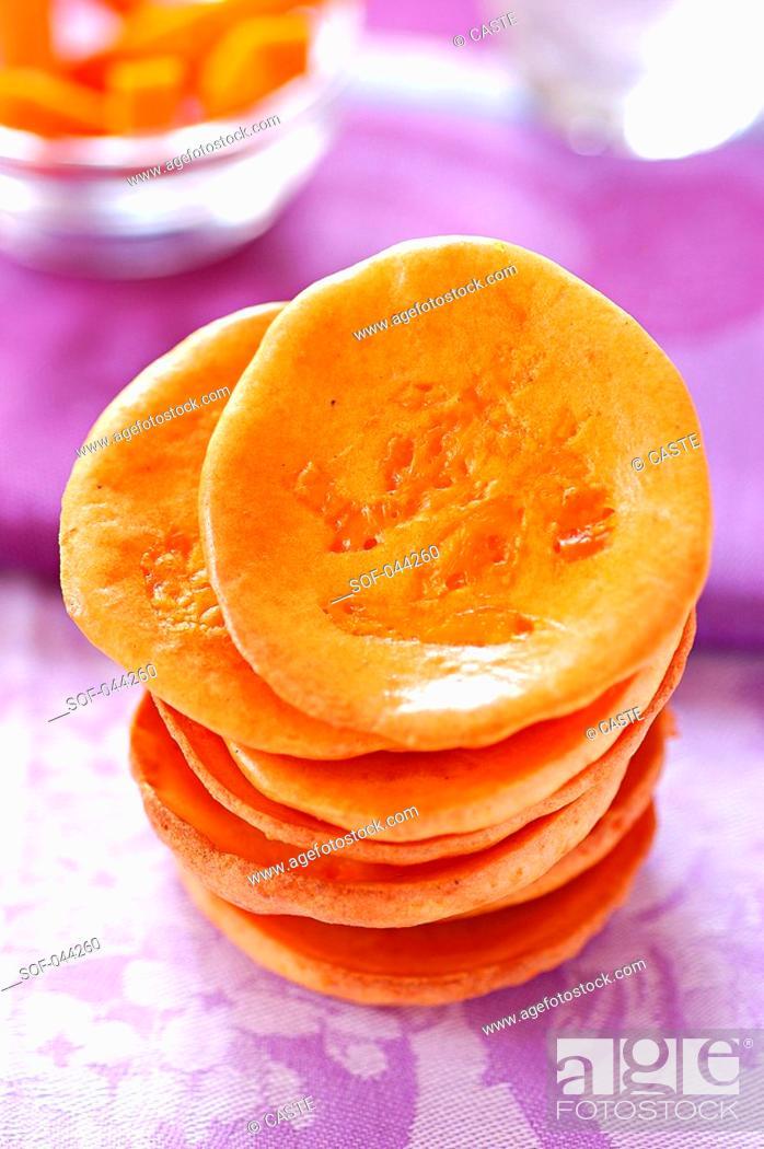 Stock Photo: mimolette cookies.