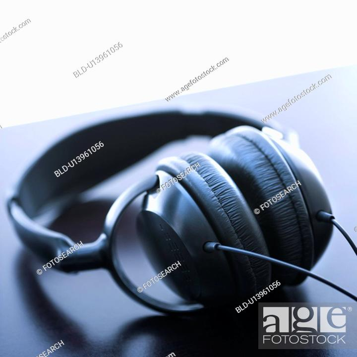 Stock Photo: Still life of audio headphones.