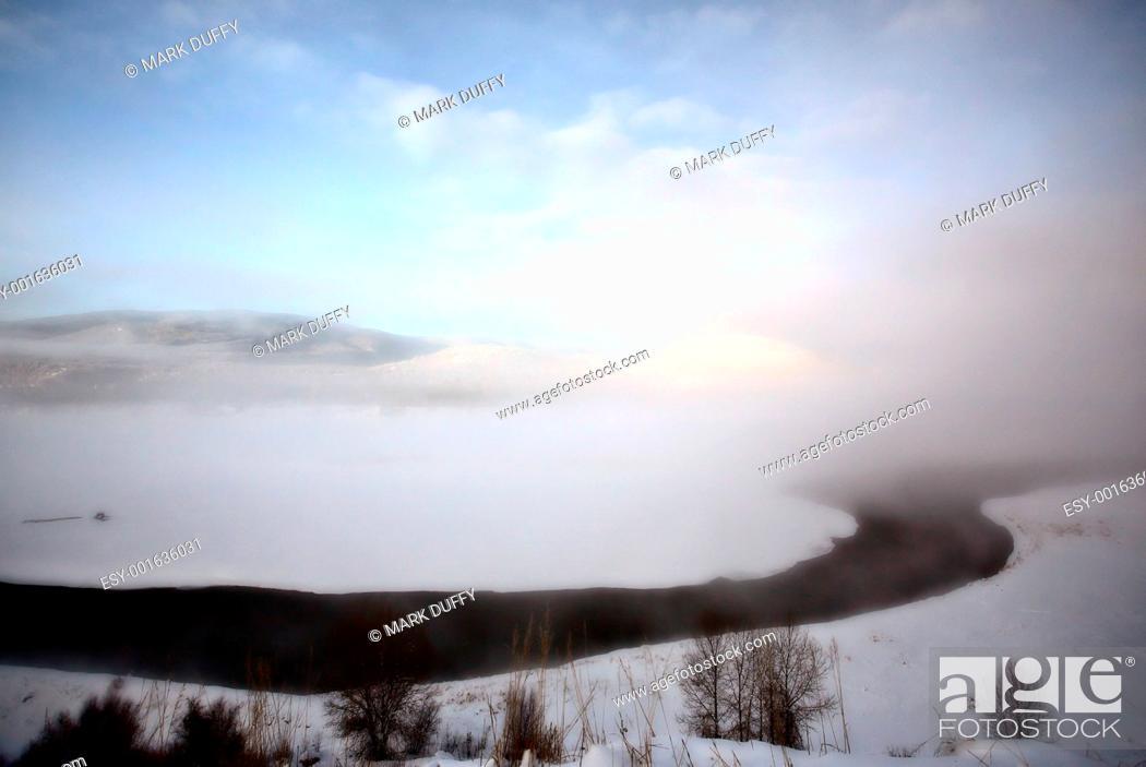 Stock Photo: Open water in winter.