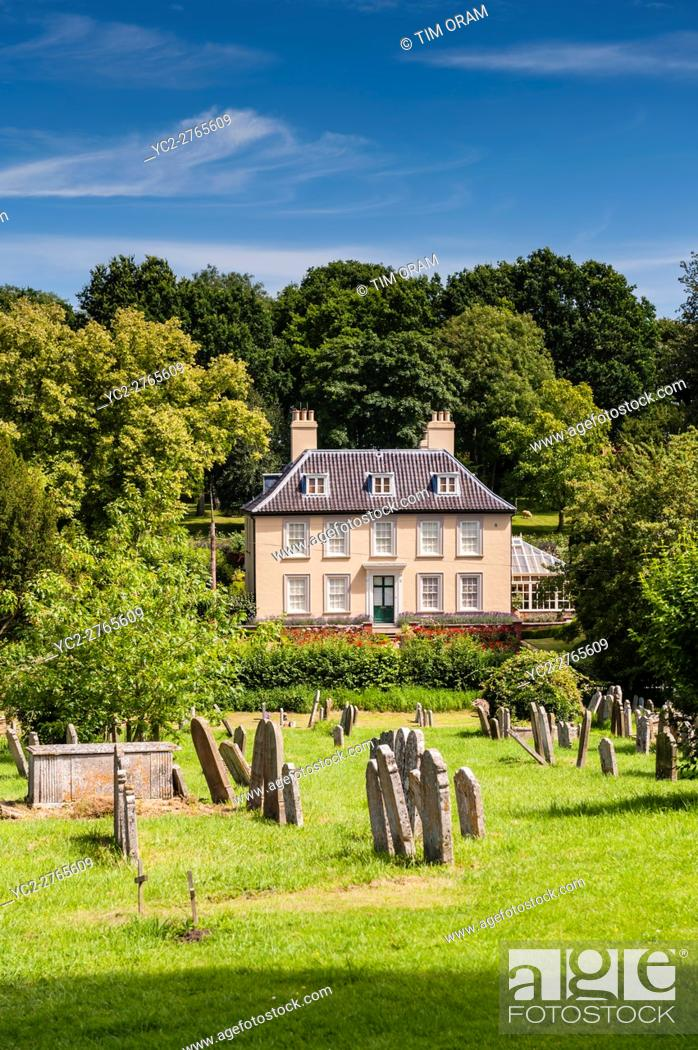 Stock Photo: A pretty country house in Fressingfield , Suffolk , England , Britain , Uk.