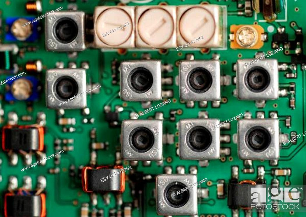 Stock Photo: electronic boards.