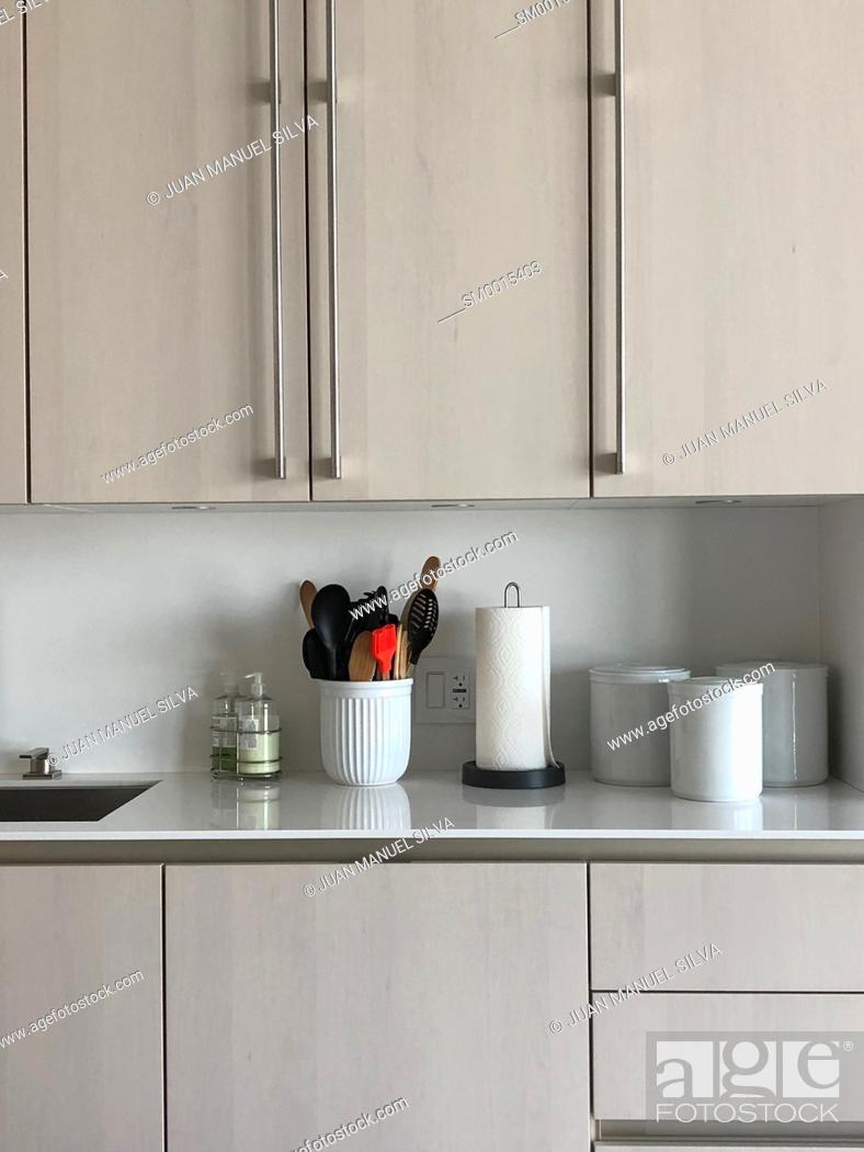 Stock Photo: Modern kitchen.