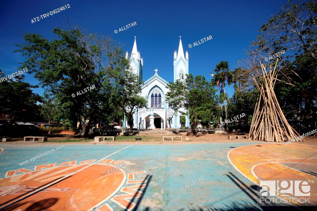 Stock Photo: IMMACULATE CONCEPTION CATHEDRAL; PUERTO PRINCESA, PALAWAN, PHILIPPINES, ASIA; 22/04/2015.