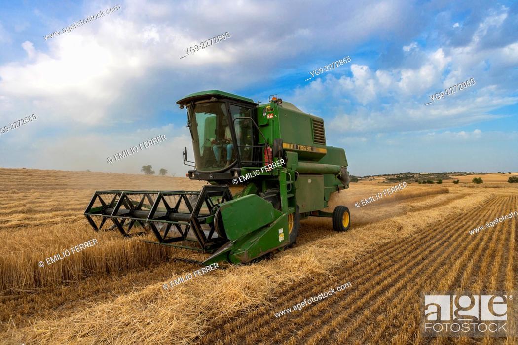 Stock Photo: Combine harvester.
