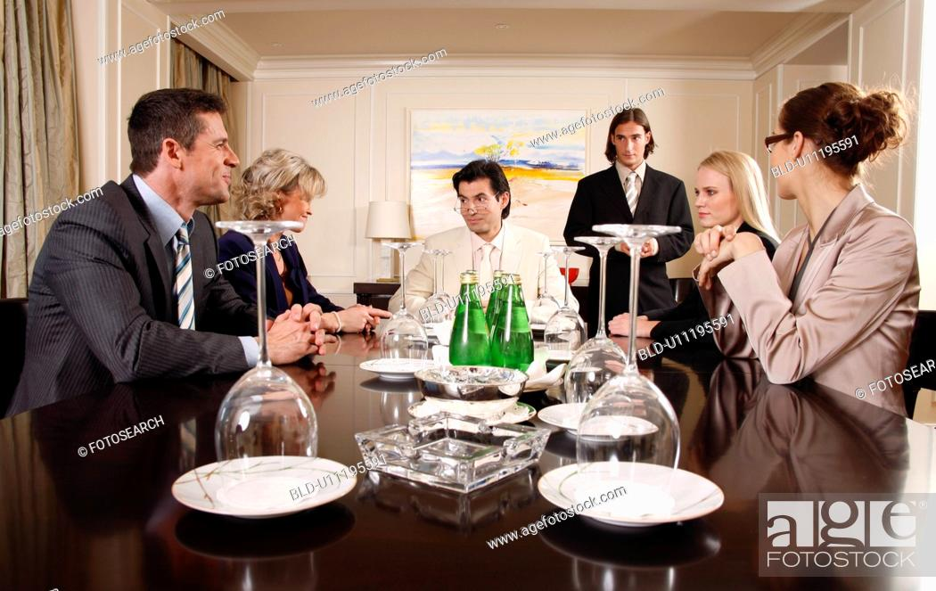 Stock Photo: Business people having a meeting.