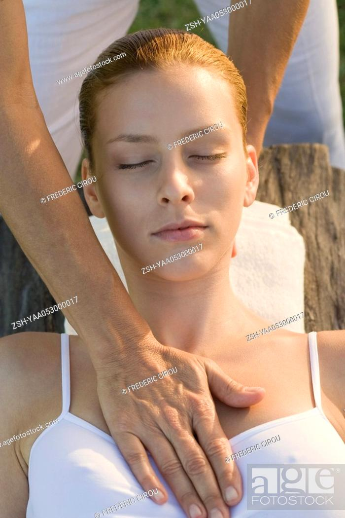 Stock Photo: Woman receiving massage.