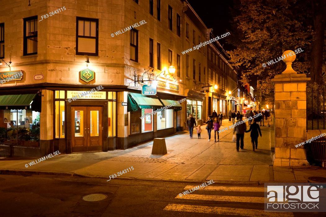 Rue sainte anne pedestrian walkway old quebec city quebec