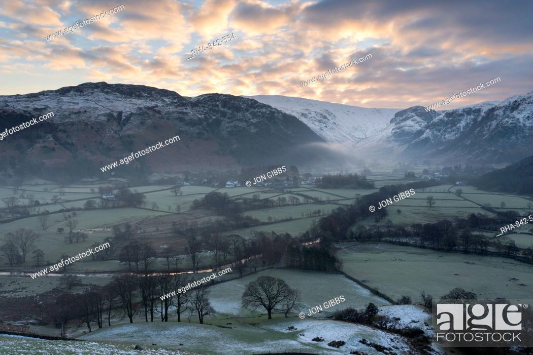 Stock Photo: Borrowdale, Lake District National Park, Cumbria, England, United Kingdom, Europe.
