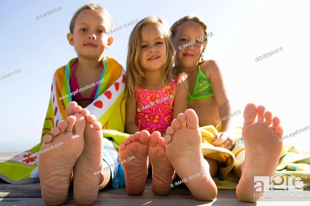Stock Photo: Girls on holiday.
