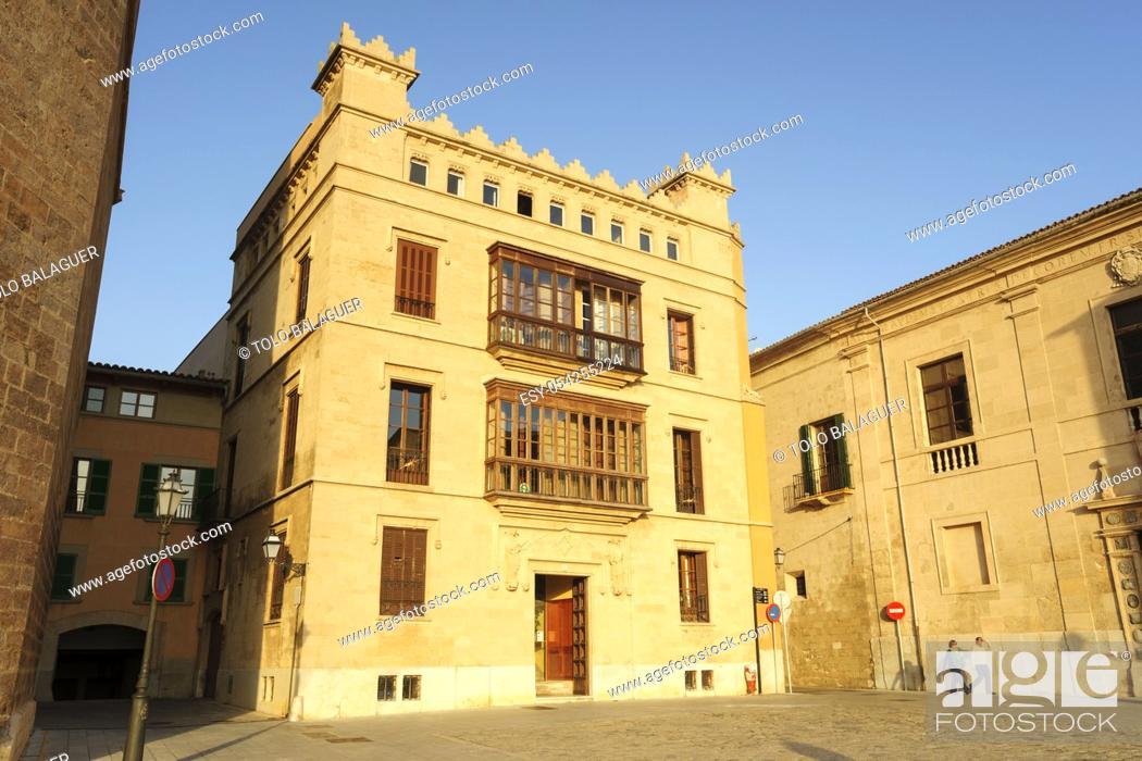 Imagen: Can Espanya , plaza Mirador, obra de fray Santiago Cuñado a finales del siglo XIX , Neogótico, Mallorca, Islas Baleares, España.
