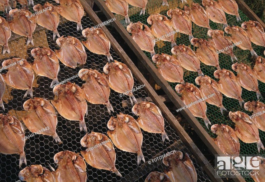 Stock Photo: Dried Horse Mackerel.