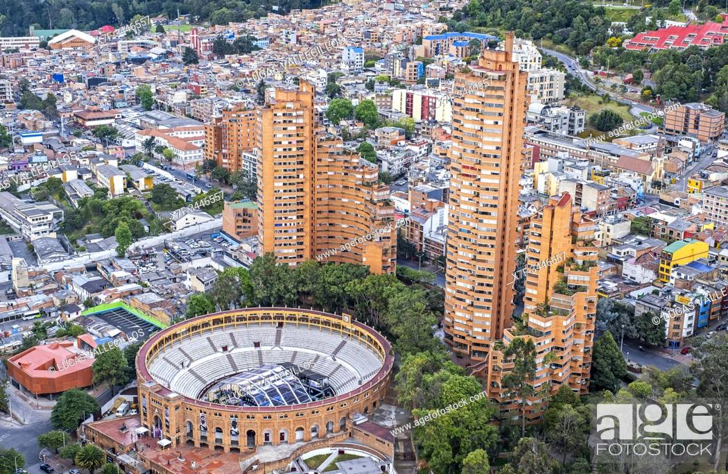 Stock Photo: Skyline, downtown, Bogota, Colombia.