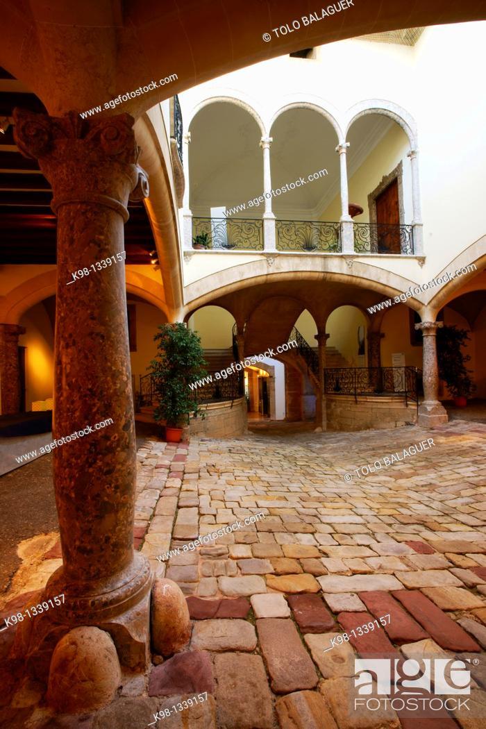 Stock Photo: Palau Solleric, 1763 Passeig des Born Historical Center, Palma, Mallorca Baleares, Spain.