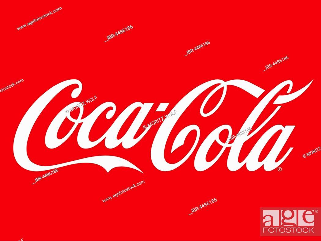 Photo de stock: Coca Cola logo on red background.
