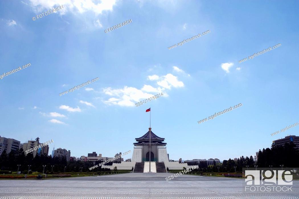 Stock Photo: Arch of Chiang Kai-Shek Memorial Hall, Taiwan.